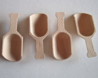 3 Wood Candy Sprinkle Buffet Party Scoops