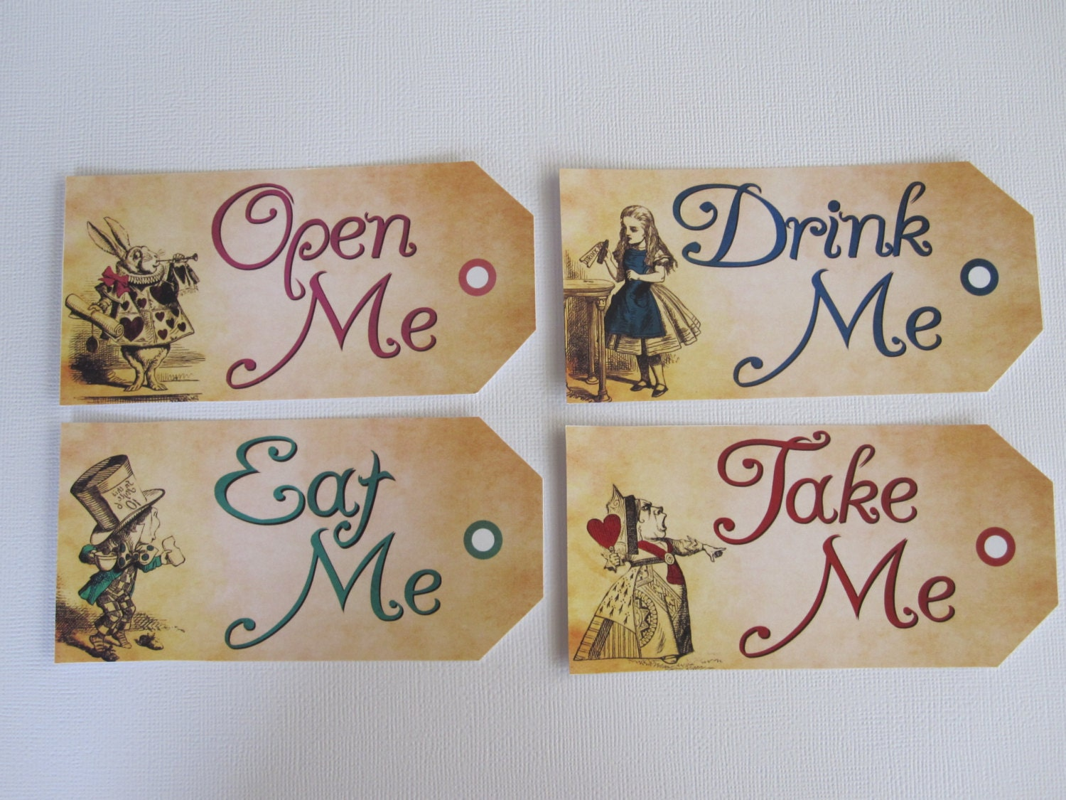 alice in wonderland tags template - eat me tags drink me tags take me tags open me tags
