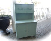 Petite/Childs Shabby Chic Hutch in Tiffany Blue French Country Style reserved for Cassie