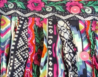 Multi Colored and Patterned Skirt