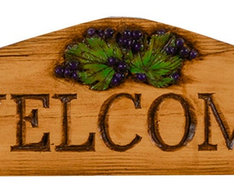 Grape Wall Decor Plaque and Door topper