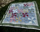 Flowered Pinwheel Quilt