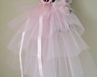 Burlesque Baby Pink Bustle TuTu Belt US 4 10 UK 6 12 Bachelorette Party