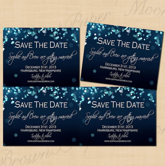 Midnight Blue Night Sky Save The Dates 5 5x4 25