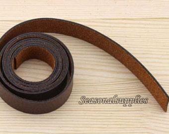 Bag Handle, Artificial PU leather strap, Purse Straps, Belting, Brown color, 2cm wide, No hole, 1 Metre (T39)