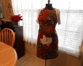 Texas wildflower full apron with a Texas shaped front pocket
