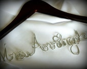 Newly Engaged Gift, Customized Wedding Coat Hanger, Personalized Bride Hanger