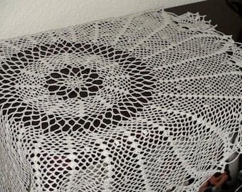 Handmade Large Intricate Crocheted Doily