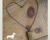 Gold Garden. Necklace -- (Vintage-Style, Antiqued Brass, Gold, Romantic, Rustic, Feminine, Bridesmaid Gift, Unique, Lovely, Gift Under 20)