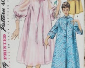 Vintage 1950s Simplicity 4972 Robe, Duster, Negligee or Housecoat Size 14 Bust 32