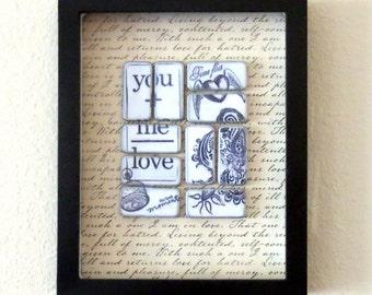 Valentine Gift, Wall Art, Wall Decor, Housewares, Anniversary Gift, Wall Hanging