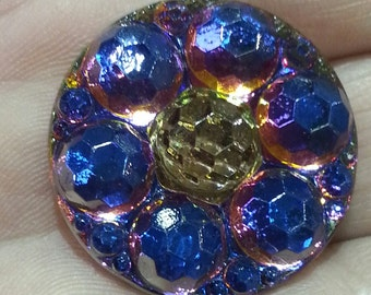 27 mm Czech Glass Button BK194
