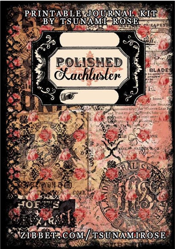 Polished Lackluster Printable Journal Kit- INSTANT DOWNLOAD