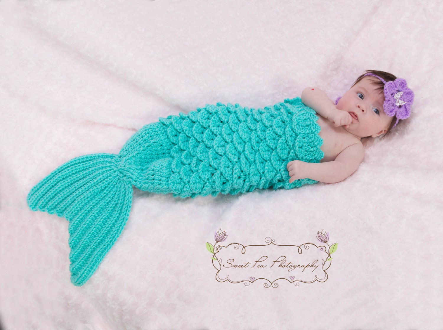 Crochet Patterns Mermaid : Crochet Mermaid Tail & Headband Prop INSTANT DOWNLOAD PDF from by ...