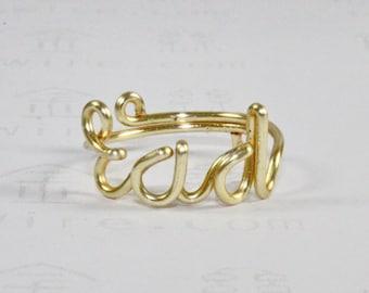 RAD ring, gold wire