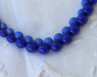 Necklace - Blue Beads - Vintage