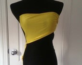 Vintage Black and Yellow One Piece Bathing Suit- Size xsmall-small