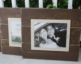 Distressed Picture Frame Wood 8x10 Frame, Brown Picture Frame 8x10 Picture Frame