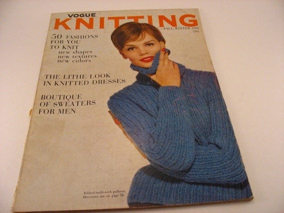 Vogue Knitting Magazine Fall-Winter 1961 Knitting Patterns