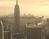 New York City photograph, Manhattan photograph, city scape, skyline, landscape, 8x10