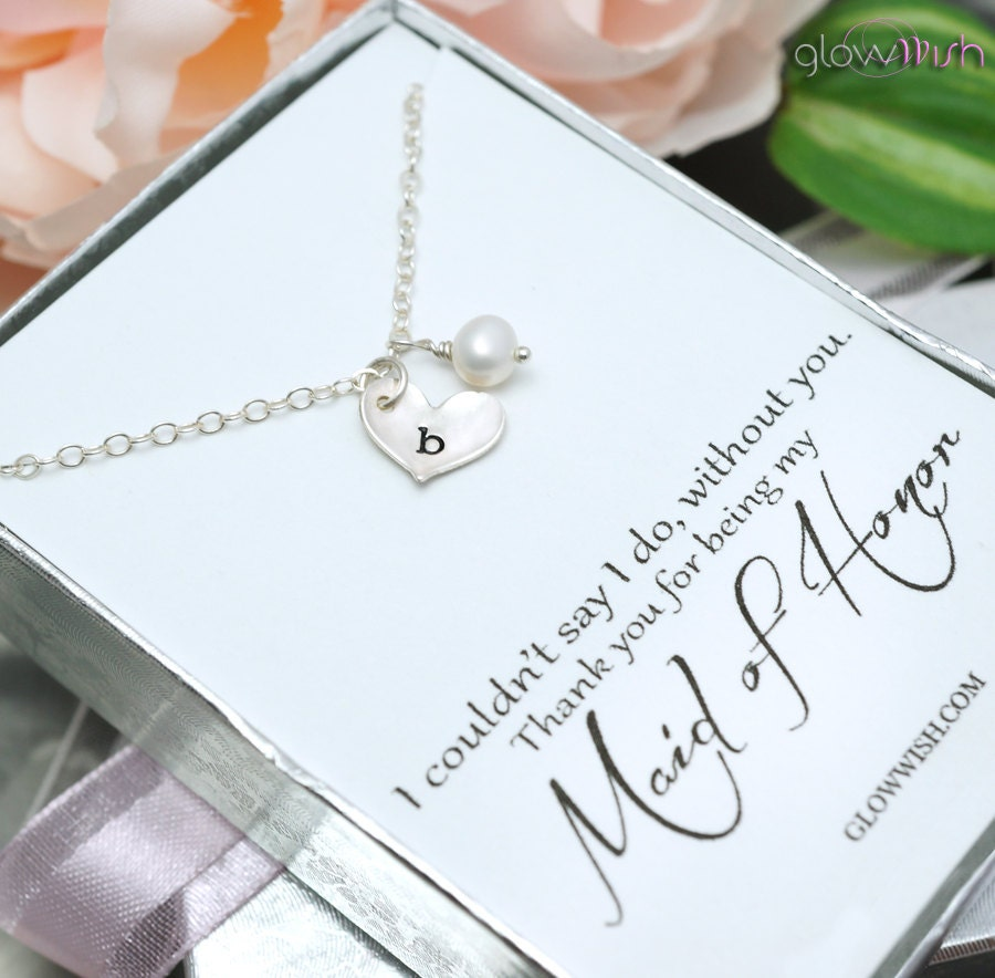 Bridesmaid Gifts Thank You Card Maid Of Honor Gift Be By