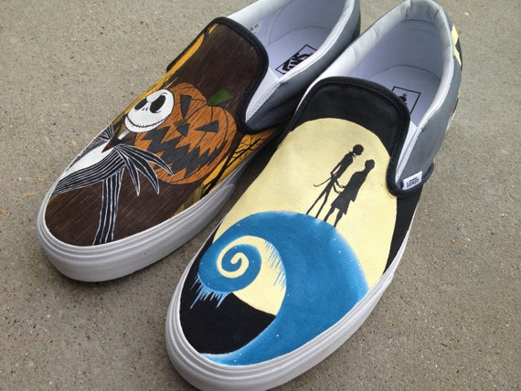 Custom Hand Painted Shoes - Nightmare Before Christmas