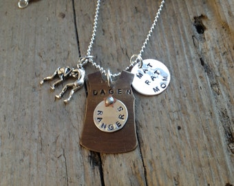 Wrestling Mom Girlfriend Grandmom Necklace with custom charm Sports Jewelry Team