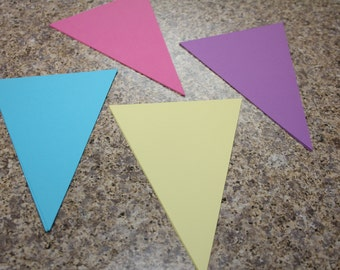 Pennant Die Cuts- 6 inches (8)