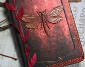 Dragonfly mini journal -AUTUMN WINGS- dragonfly pocket or purse nature journal diary