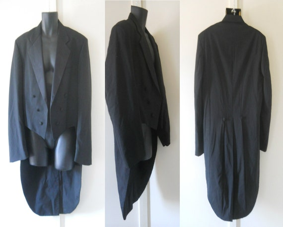 Mens tailcoat tail coat mens tuxedo jacket 80s tuxedo jacket with