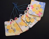 Homemade Gift Tags,  Flower Tags Set of 6