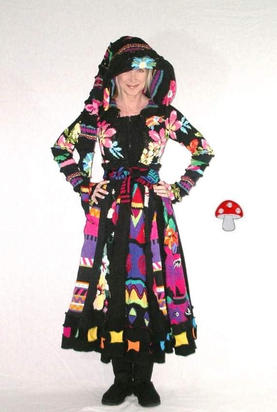 Rio carnival elf coat extra small recycled by enchantedground