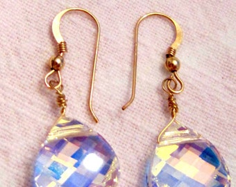 Swarvoski Crystal Teardrop Earrings