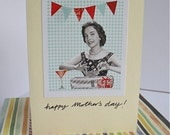 Happy Mother's Day - Retro Card, Collage Print, Celebration, Cocktails, Gifts, Mum