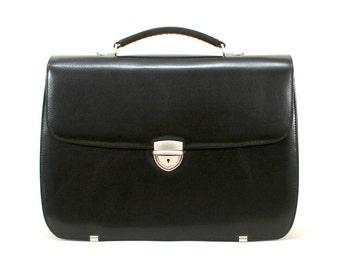Sale Leather Briefcase Women Nita Black Italian Calf