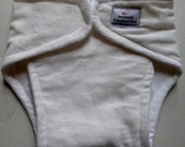 Newborn Contour Cloth diaper white