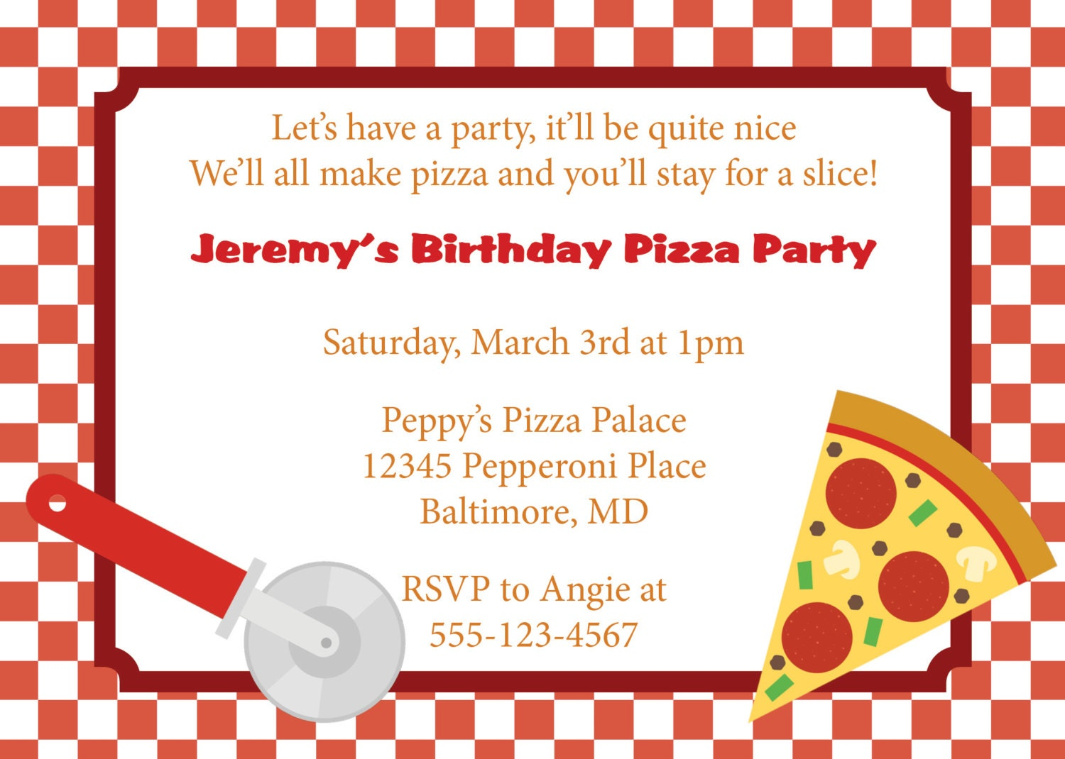 Pizza Party Invitation could be nice ideas for your invitation template