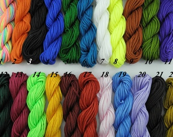 1.5mm 22 Colors For Choosing 160m/180YD Eco-friendly Chinese Knots Shamballa Macramé Satin/Rattail Nylon Beading Cord