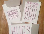 "Letterpress Valentine's Day Trading Cards - 2""x3"""