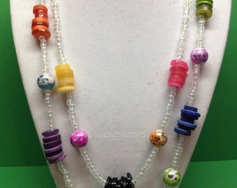 Buttons and Beads Necklace