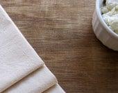 Organic Cotton Muslin Cheese Draining Straining Cloth Set of 1 -- Organic unbleached cotton muslin and organic unbleached cotton thread