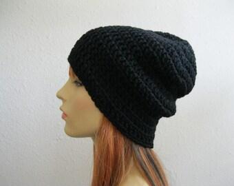 Crochet Beanie - Slouchy Beanie - Mens Hat - Crochet Slouchy Beanie - Winter Hats - Beanies - Crochet Beanie Hat - Slouchy Beanie Hat