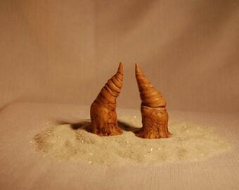 small Satyr Imitation Bone  HORNS  Halloween ren fair cos play lARP