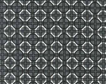 Metro Living by Robert Kaufman - Black Grey White - 1/2 yard cotton quilt fabric 516
