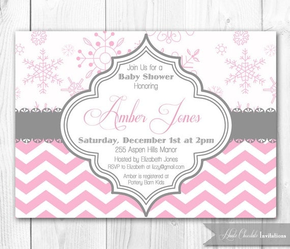 winter baby shower invitations | wblqual, Baby shower invitations