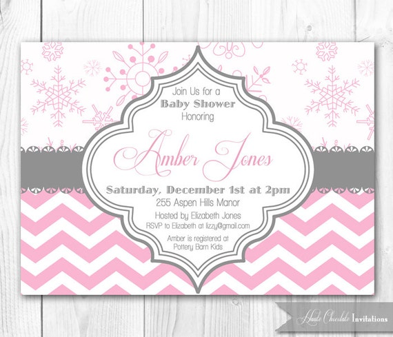 items similar to winter baby shower invitation. modern chevron, Baby shower