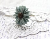 SALE Vintage Inspired Daisy Ring, Duck Egg Blue Gifts for Her