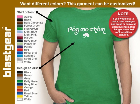 Pog Mo Thoin funny St. Patrick's Day womens T-shirt — Any color/Any size - Adult S, M, L, XL, 2XL, 3XL