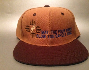 May The Four Winds Blow You Safely Home Snapback Hat made to order Grateful Dead FREE SHIPPING
