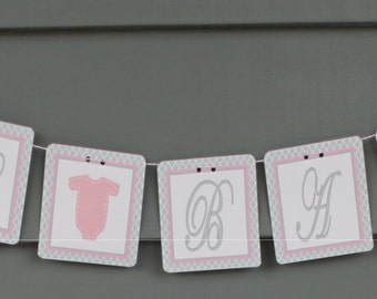 LITTLE LADY Oh Baby Baby Shower or Birthday Banner - Party Packs Available